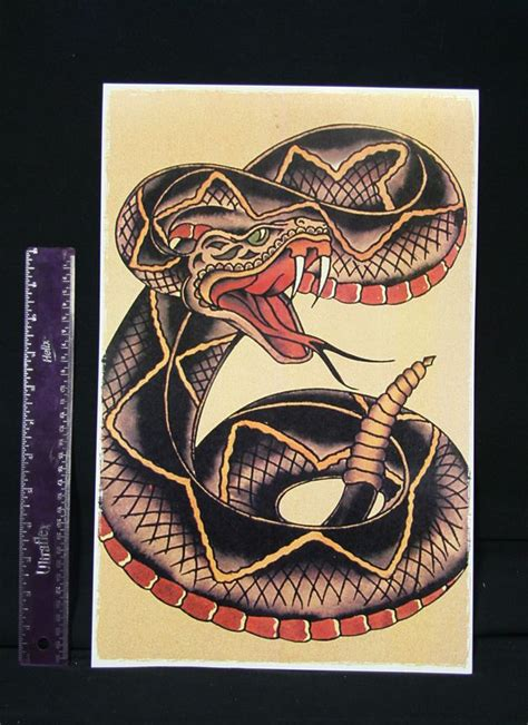 traditional style tattoos large cobra snake vintage sailor jerry traditional style