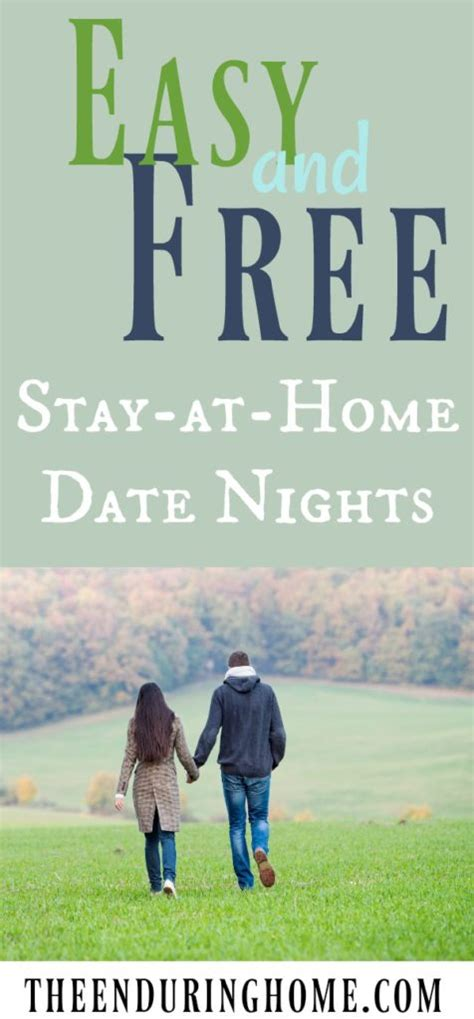 easy and free stay at home date nights the enduring home