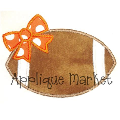 embroidery designs applique machine embroidery design applique football bow instant