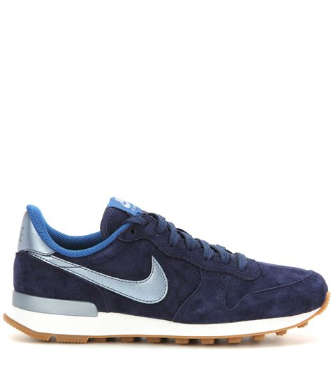 nike sneakers nike internationalist suede sneakers in blue lyst
