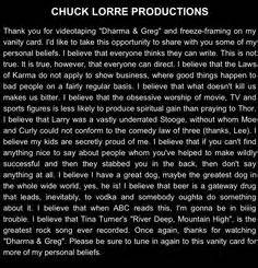 Chuck Lorre Vanity Card 255 by 1000 Images About Chuck Lorre On Chuck Lorre
