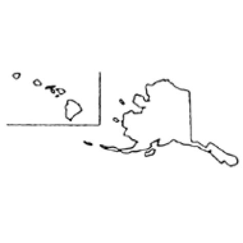 outline map of us with alaska and hawaii alaska and hawaii outline map