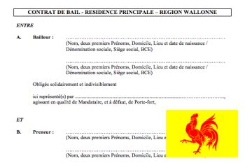 Modèle Bail Région Wallonne