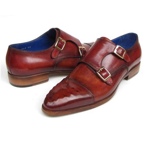 paul parkman shoes paul parkman ostrich embossed monk shoes