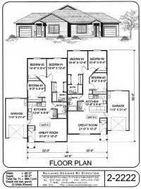 duplex floor plans single story single story duplex floor plans