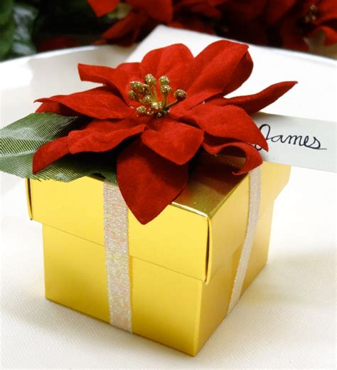 diy poinsettia gift box favors catch my party