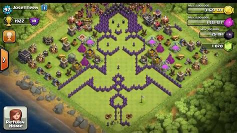 layout coc hello kitty coc clash of clans base anti hog rider dan base anti