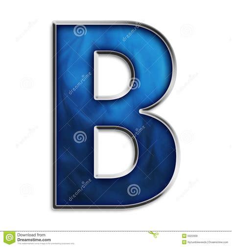 b b isolated letter b in tribal blue stock illustration