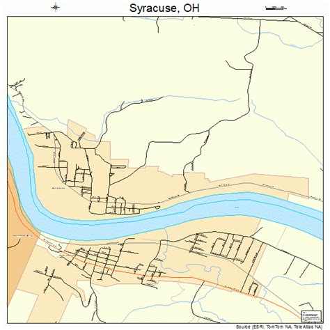 syracuse map syracuse ohio map 3976050