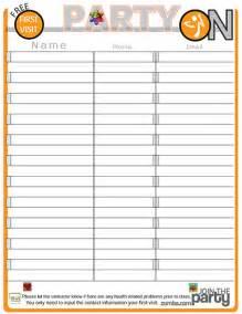 Potluck Food List Template Potluck Sign Up Sheet Calendar Template 2016