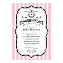 bridal shower invitations around the clock bridal shower