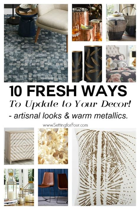 10 fresh ways to update your decor setting for four