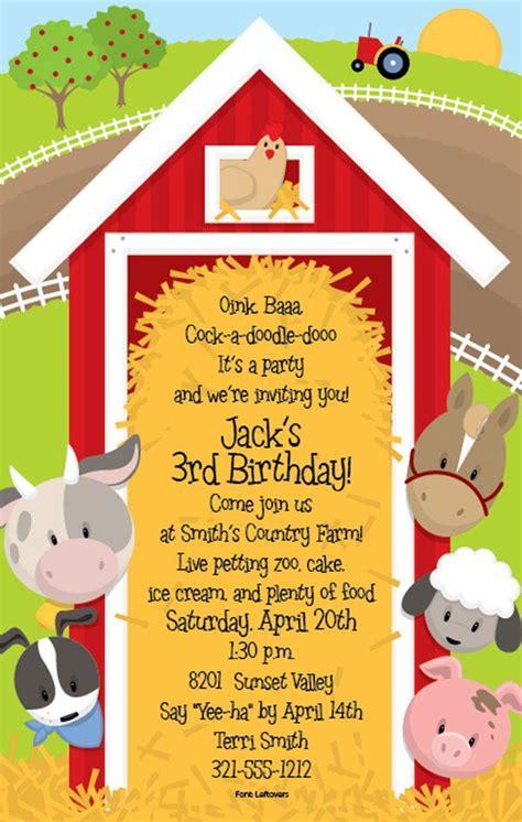 Barnyard Bash Farm Birthday Party Party Ideas Pinterest Farm Themed Party Farm Birthday Free Farm Birthday Invitation Templates