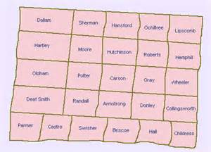map of panhandle counties counties in the panhandle region of 1800 ustravel