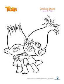 trolls movie coloring coloring pages birthdays craft free printable