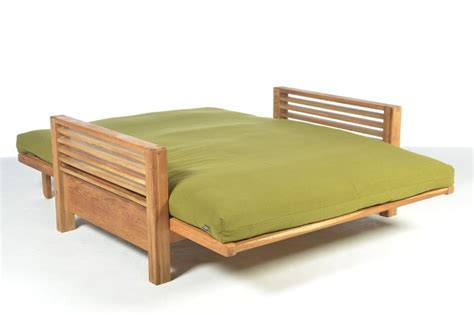 2 seater solid oak sofa bed futon company