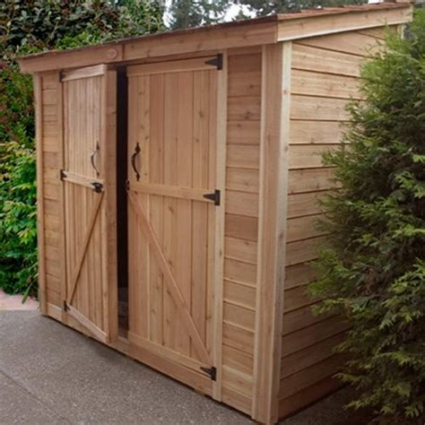 Weatherproof Exterior Door Outdoor Living Today Ss84d Spacesaver 8 X 4 Ft Door Storage Shed Traditional Sheds