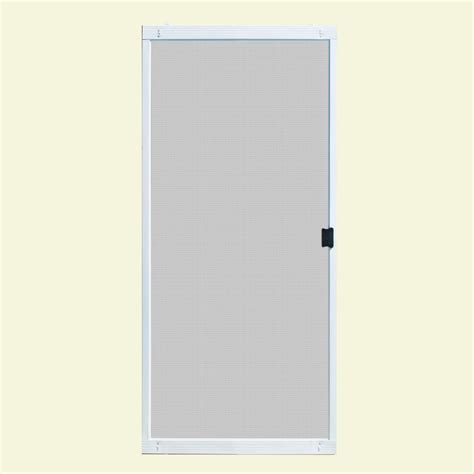 Patio Screen Doors Unique Home Designs 36 In X 80 In Standard White Metal Sliding Patio Screen Door Ispm200036wht