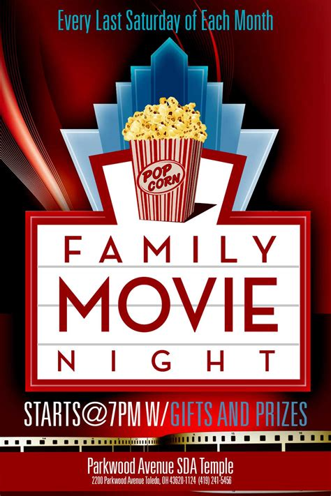 movie night template flyer free images