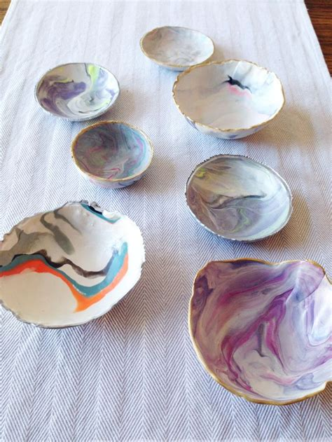 diy marble clay jewelry bowls clay crafts clay plates