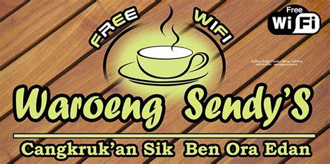 Wifi Untuk Cafe 10 contoh desain spanduk warung kopi free wifi arif