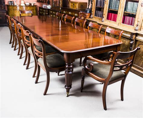 Dining Table Set For 12 Antique Wiliam Iv Mahogany Extending Dining Table 12 Chairs Ref No 07400a