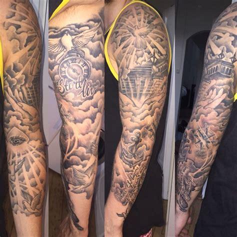 Stairway to heaven tattoo dove tattoo cloud tattoo eye tattoo anchor tattoo family tattoo sleeve