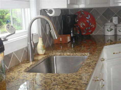Granite Countertops Tile Backsplash Stainless Steel Sink Brushed Stainless Steel Backsplash