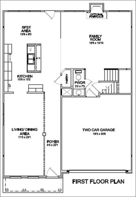 Open Floor House Plans One Story brooklyn