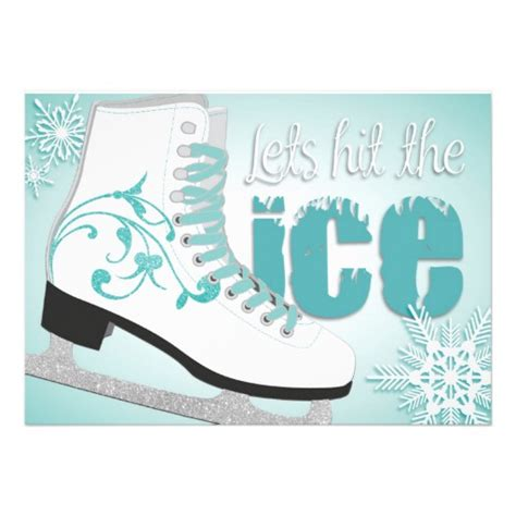skating invitations templates lets hit the skating invitation 5 quot x 7 quot invitation