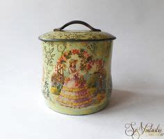 vintage retro flower pattern canister metal tin white 1000 images about vintage tin boxes canisters on