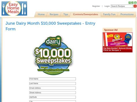 June Dairy Month Sweepstakes - june dairy month 10 000 sweepstakes