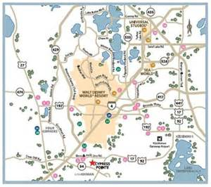 florida points of interest map location map for cypress pointe orlando florida