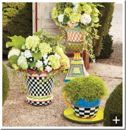 Painted Planters by Whimsical Painted Planter