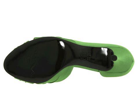 Nine Wests Jojus Apple Green Dorsay Peep Toes by Culver Apple Green Satin 6pm