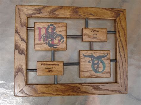 Wedding Anniversary Gifts Made Of Iron by Custom Anniversary Gift Wood And Iron By Awl Woodworks