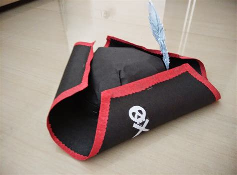 Pirate Hat Origami - paper pirate hats tag hats