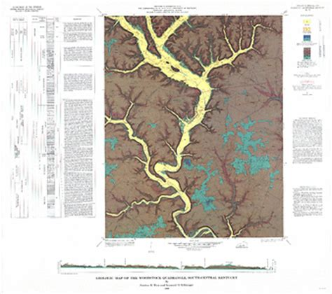 kentucky bedrock map geologic map of the woodstock quadrangle south central