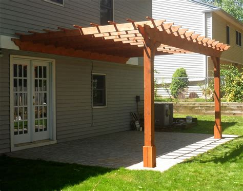 pergola design ideas wall mounted pergola 14 x 16 cedar 2