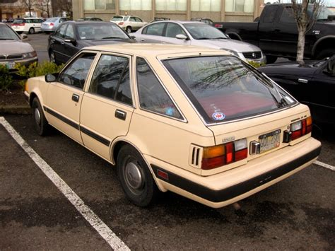 nissan stanza 1983 old parked cars 1983 datsun nissan stanza 4 door hatchback