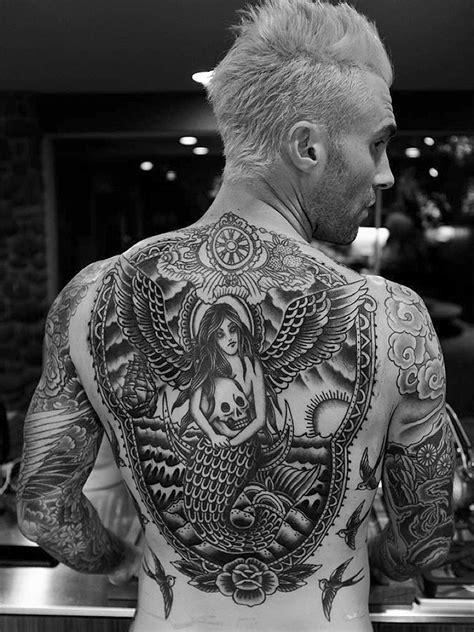 adam levine debuts his finished back tattoo people com