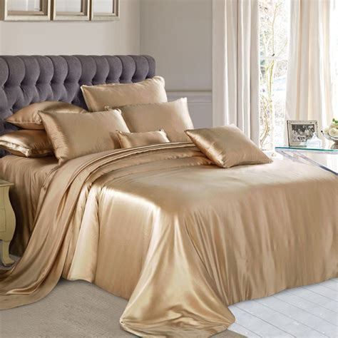 Silk Bedding Sets Cappuccino Silk Bed Linen High Quality Mulberry Silk