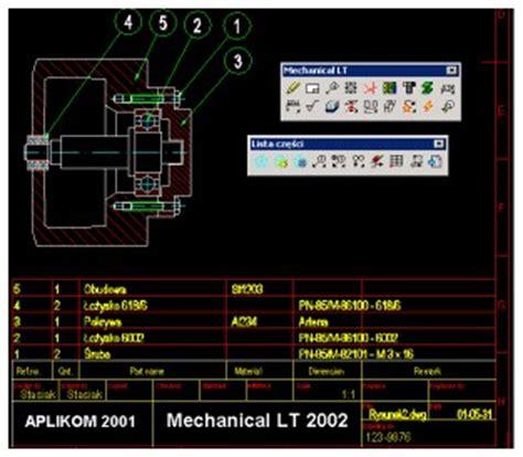 Mechanical Lt Dla Autocad Lt 187 Aplikom