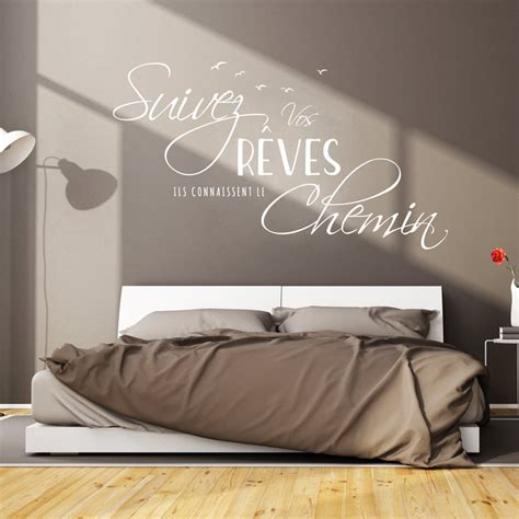 stickers muraux citations chambre sticker citation design suivez vos r 234 ves stickers