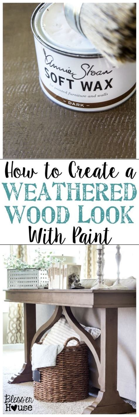 chalk paint home hardware how to create a weathered wood look with paint weathered