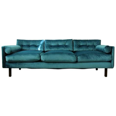 peacock velvet sofa harvey probber tuxedo sofa in peacock velvet with