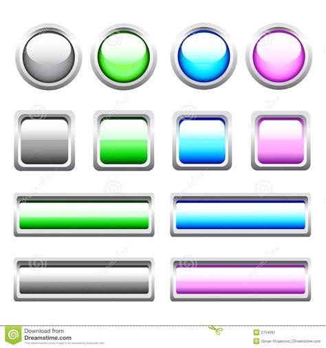 imagenes libres para webs botones brillantes del web del vector imagen de archivo