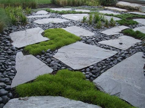 feld stein patio pavers with moss mexican pond pebbles lurvey landscape