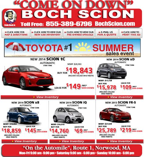 Boch Toyota Used Cars Boch Scion On The Automile In Norwood Ma