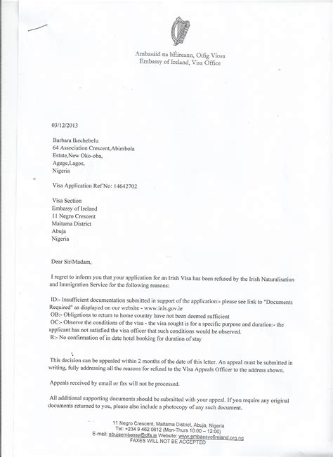 exle of invitation letter for visa to ireland sle invitation letter visa gallery invitation